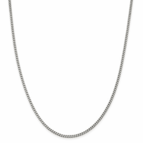 Sterling Silver Flat Beveled Curb Chain Necklaces