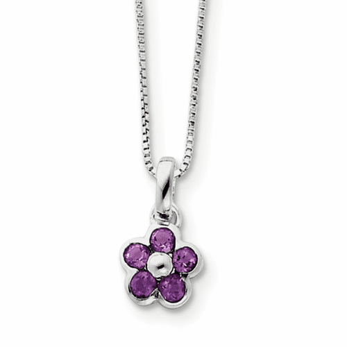 Sterling Silver Floral Natural Stone Necklaces