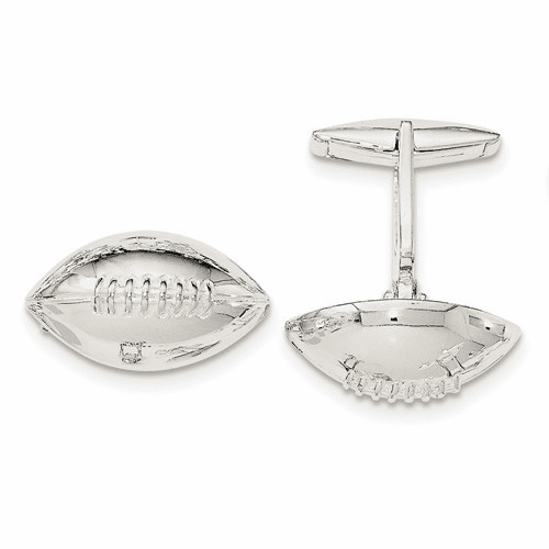 Sterling Silver Football Cuff Links Qq566