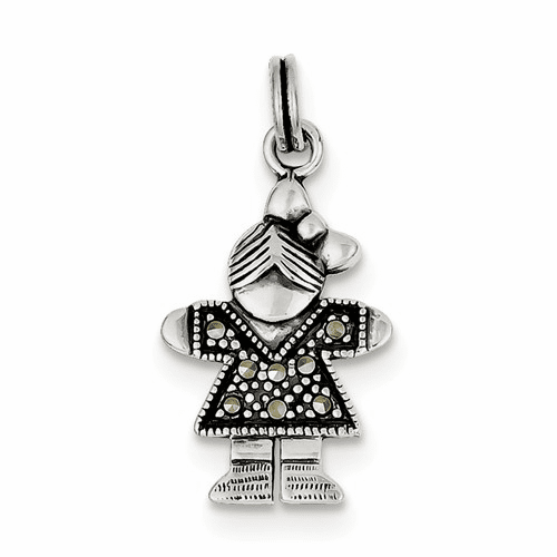 Sterling Silver Girl Charm Qc4635