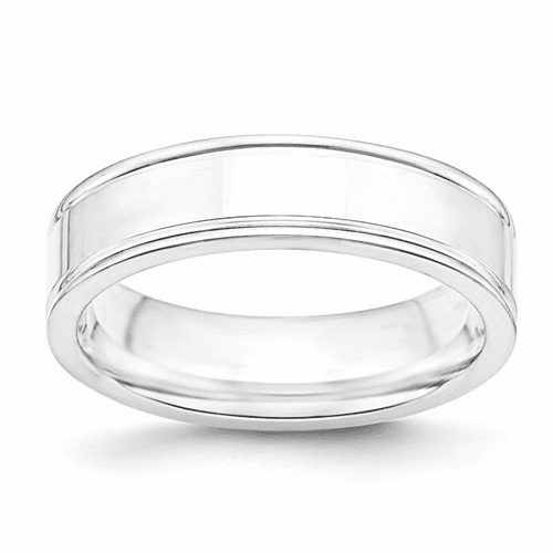 Sterling Silver Grooved Fancy Bands