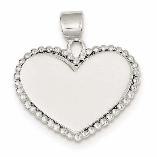 Sterling Silver Heart Pendant Qc4562