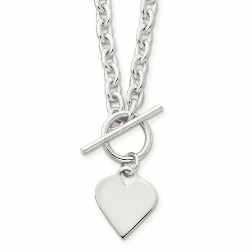 Sterling Silver Hearts/Love Engravable Pendants