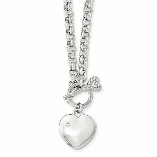 Sterling Silver Hearts/Love Necklaces