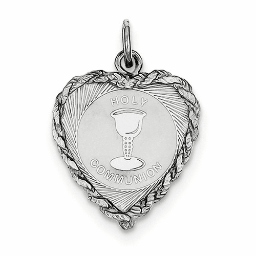 Sterling Silver Holy Communion Disc Charm Qc2401