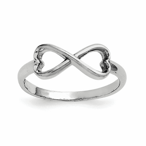 Sterling Silver Infinity Heart Ring Qr5888-8