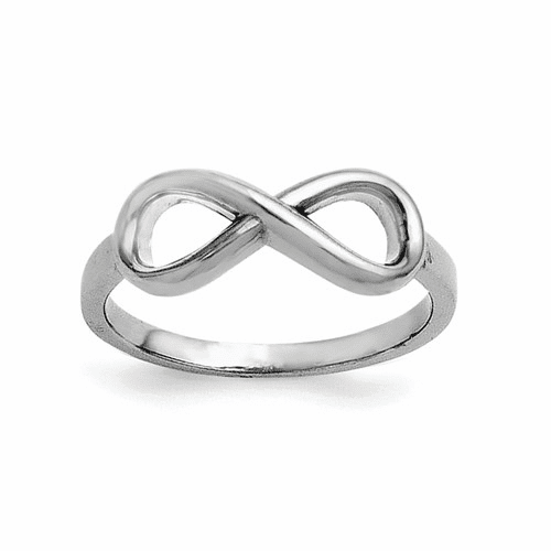 Sterling Silver Infinity Ring Qr5887-8
