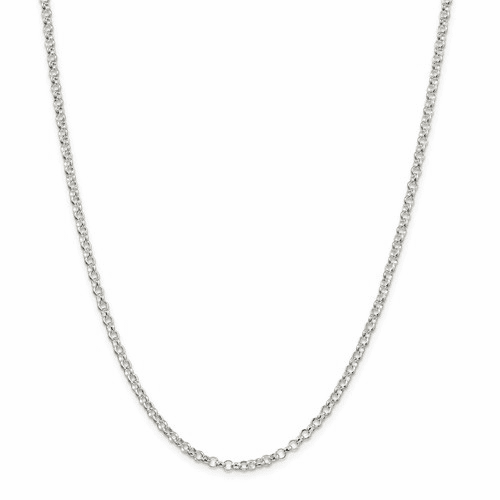 Sterling Silver Lightweight Rolo Chain Necklaces