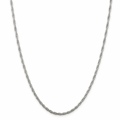 Sterling Silver Loose Rope Chain Necklaces
