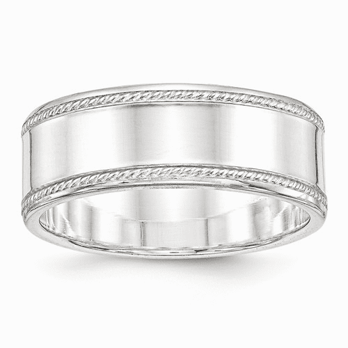 Sterling Silver Milgrain Bands