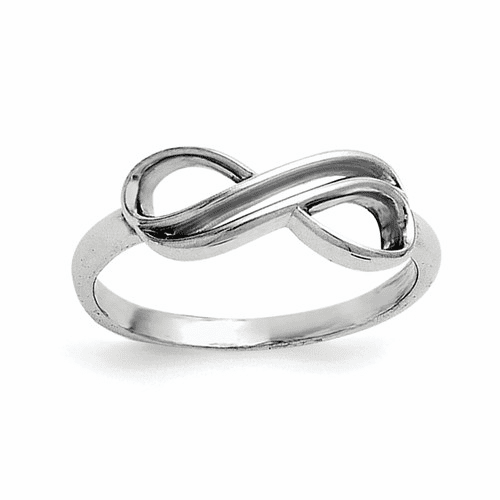 Sterling Silver Overlap Infinity Ring Qr5889-8