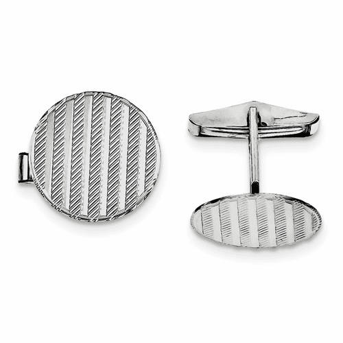 Sterling Silver Rhodium-plated Cuff Links Qq170