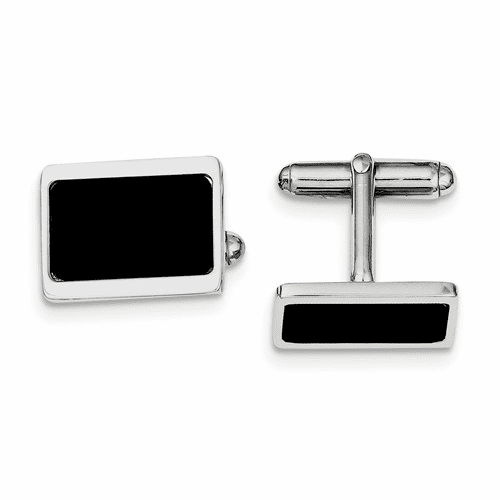 Sterling Silver Rhodium Plated Cuff Links Qq519