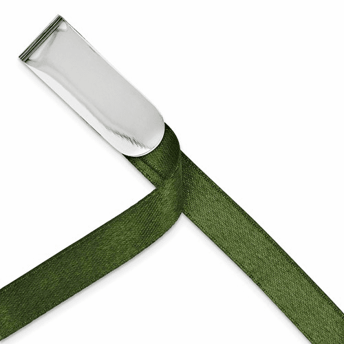 Sterling Silver Rhodium-plated Ribbon Book Mark Qq257