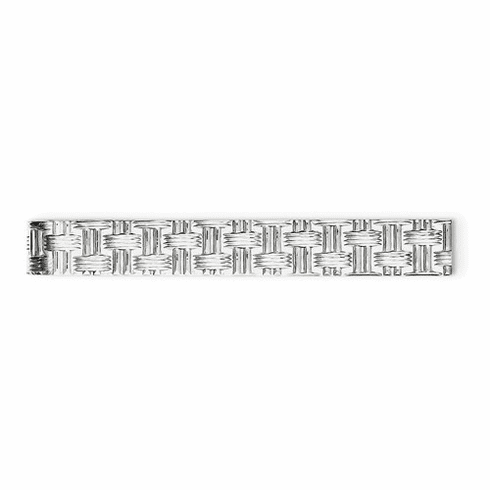 Sterling Silver Rhodium-plated Tie Bar Qq206