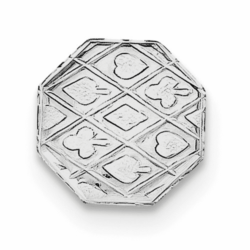 Sterling Silver Rhodium-plated Tie Tac Qq184