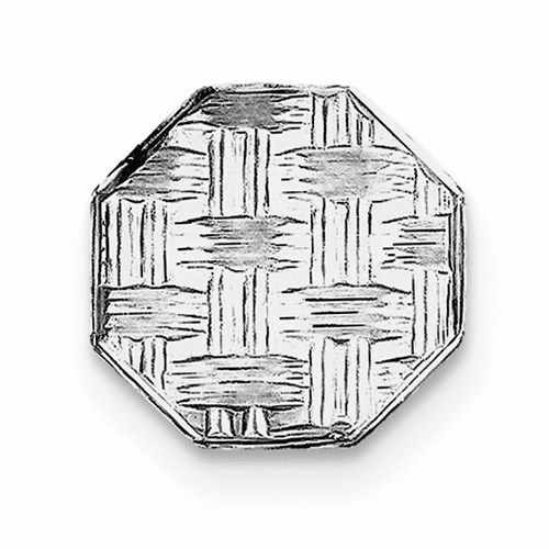 Sterling Silver Rhodium-plated Tie Tac Qq194