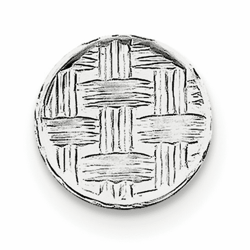 Sterling Silver Rhodium-plated Tie Tac Qq196