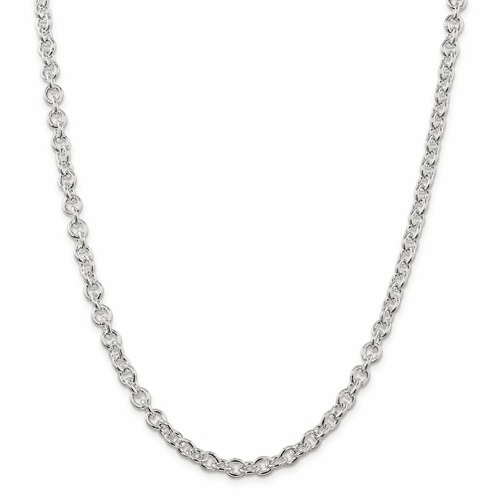 Sterling Silver Round Open Link Cable Chains