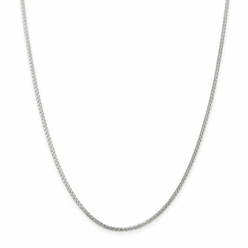 Sterling Silver Round Spiga Wheat Chains