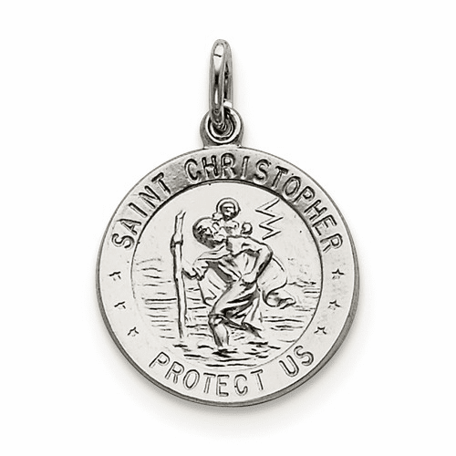 Sterling Silver Saint Christopher Medal Qc5612