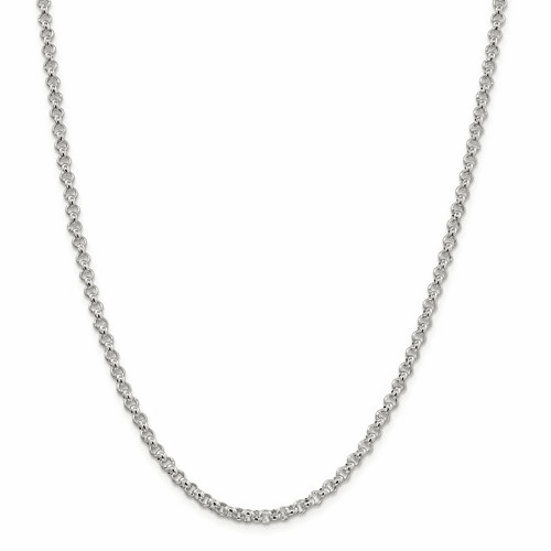 Sterling Silver Square Spiga Wheat Chain Necklaces