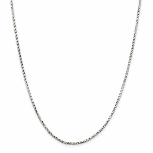 Sterling Silver Twisted Box Chain Necklaces