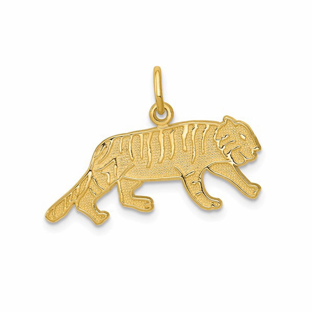 Tiger Charm - 14K Yellow Gold
