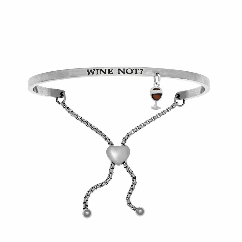Wine Not? Adjustment Bangle - Stainless Steel