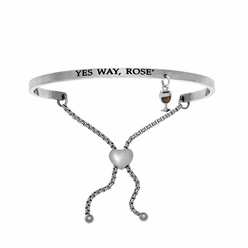 Yes Way Rose' Adjustment Bangle - Stainless Steel