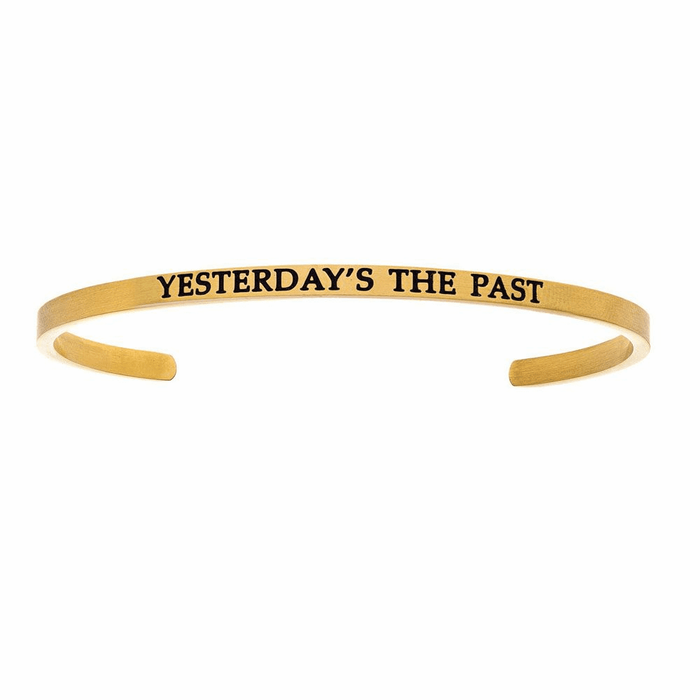 Yesterdays The Past Cuff Bangle - Stainless Steel