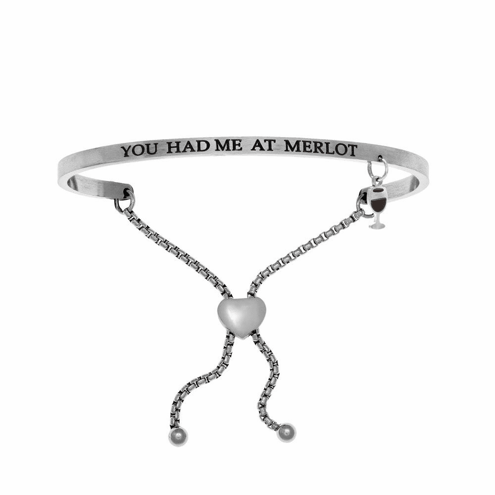 You Had Me at Merlot Adjustment Bangle - Stainless Steel