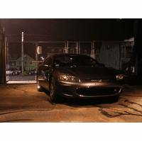 Coupe In the yard at night