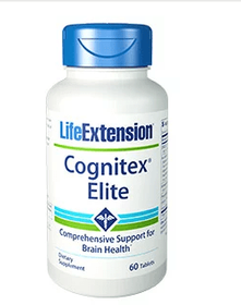 Cognitex Elite without Pregnenolone- Life Extension - 60 Softgels-Brain Shield discontinued for Cognitex Elite