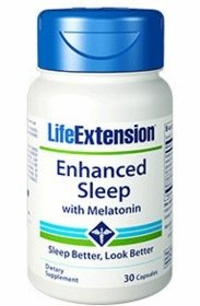 Enhanced Sleep with Melatonin - Life Extension - 30 Capsules