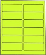 1 1/2 X 4 FLUORESCENT CHARTREUSE