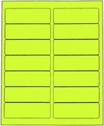 1 1/3 X 4 FLUORESCENT CHARTREUSE