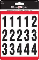 2 INCH NUMBER KIT, BLACK, SELF ADHESIVE VINYL