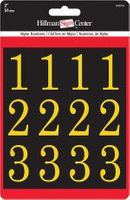 2 INCH NUMBER KIT, GOLD/BLACK, SELF ADHESIVE MYLAR
