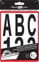 3 INCH BLACK LETTER NUMBER KIT SELF ADHESIVE VINYL
