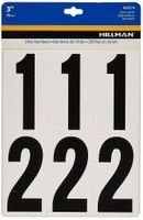 3 INCH NUMBER KIT, WHITE/BLACK, SELF ADHESIVE VINYL