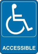 ADA ACCESSIBLE PLASTIC SIGN