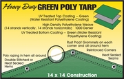 GREEN HEAVY DUTY TARPS