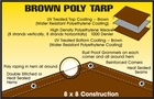 LIGHT DUTY BROWN POLY TARPS