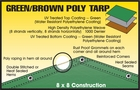 LIGHT DUTY GREEN/BROWN POLY TARPS