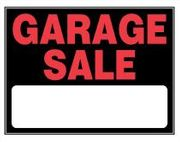 GARAGE SALE SIGN - 15 X 19 PLASTIC