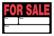 FOR SALE SIGN 8 X 12 PLASTIC