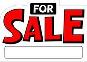 FOR SALE SIGN - 10 X 14 PLASTIC