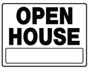 OPEN HOUSE SIGN 20 X 24 PLASTIC