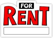 FOR RENT SIGN - 10 X 14 PLASTIC